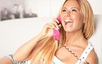 Flirten live am Telefon